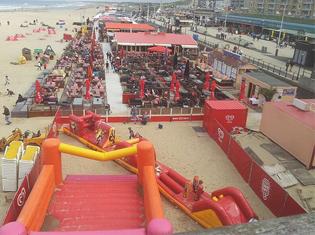 Scheveningen strand beachclub zeezicht