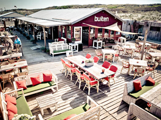 Scheveningen strand Strandpaviljoen Buiten